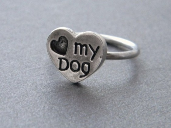 Love My Dog Ring