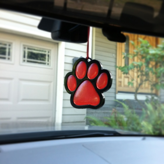 Paw Print Air Freshner