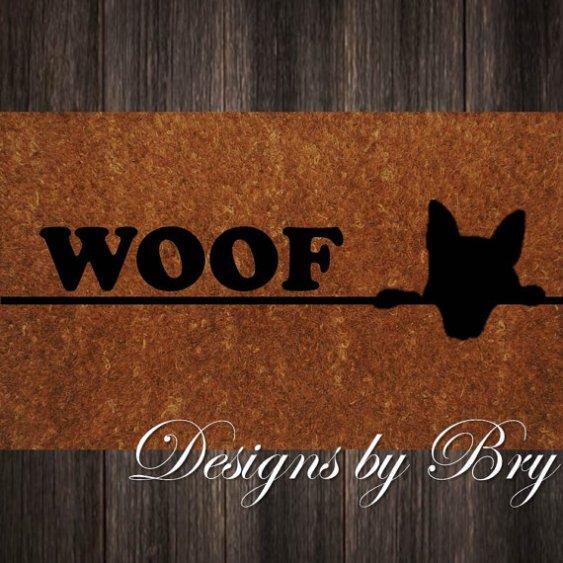 Woof Welcome Mat