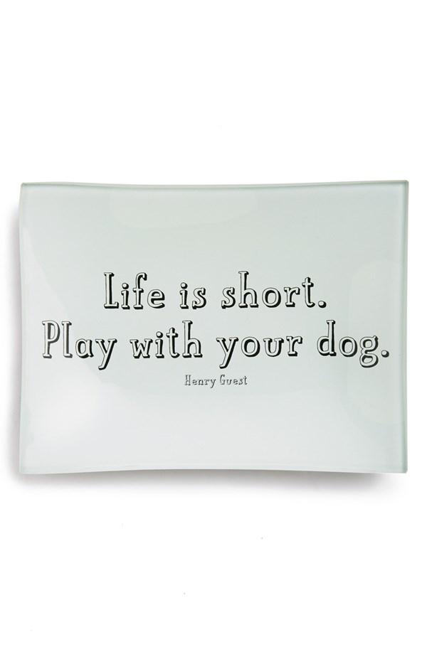 Life Is Short Trinket Tray