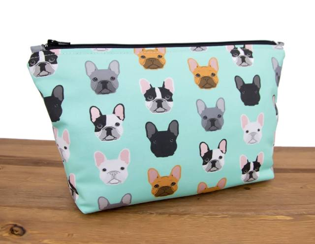 Frenchie Makeup Bag